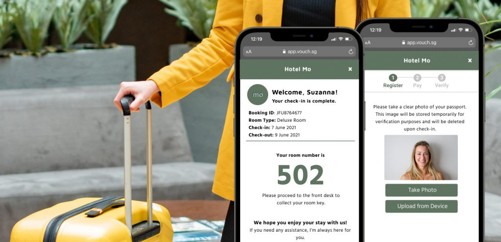 Vouch Mobile Check in for Recovery Hotels
